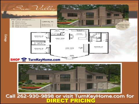 SUN VALLEY Cottage Home 3 Bed 2 Bath Plan 1806 SF Priced From Stratford Homes  Modular Plan Designs