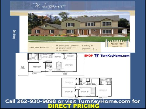 Westport Two Story Home 4 Bed 2 5 Bath Plan 2352 Sf Priced From Stratford Homes Modular Designs List 194 040 Direct 158 760 Save 35 280