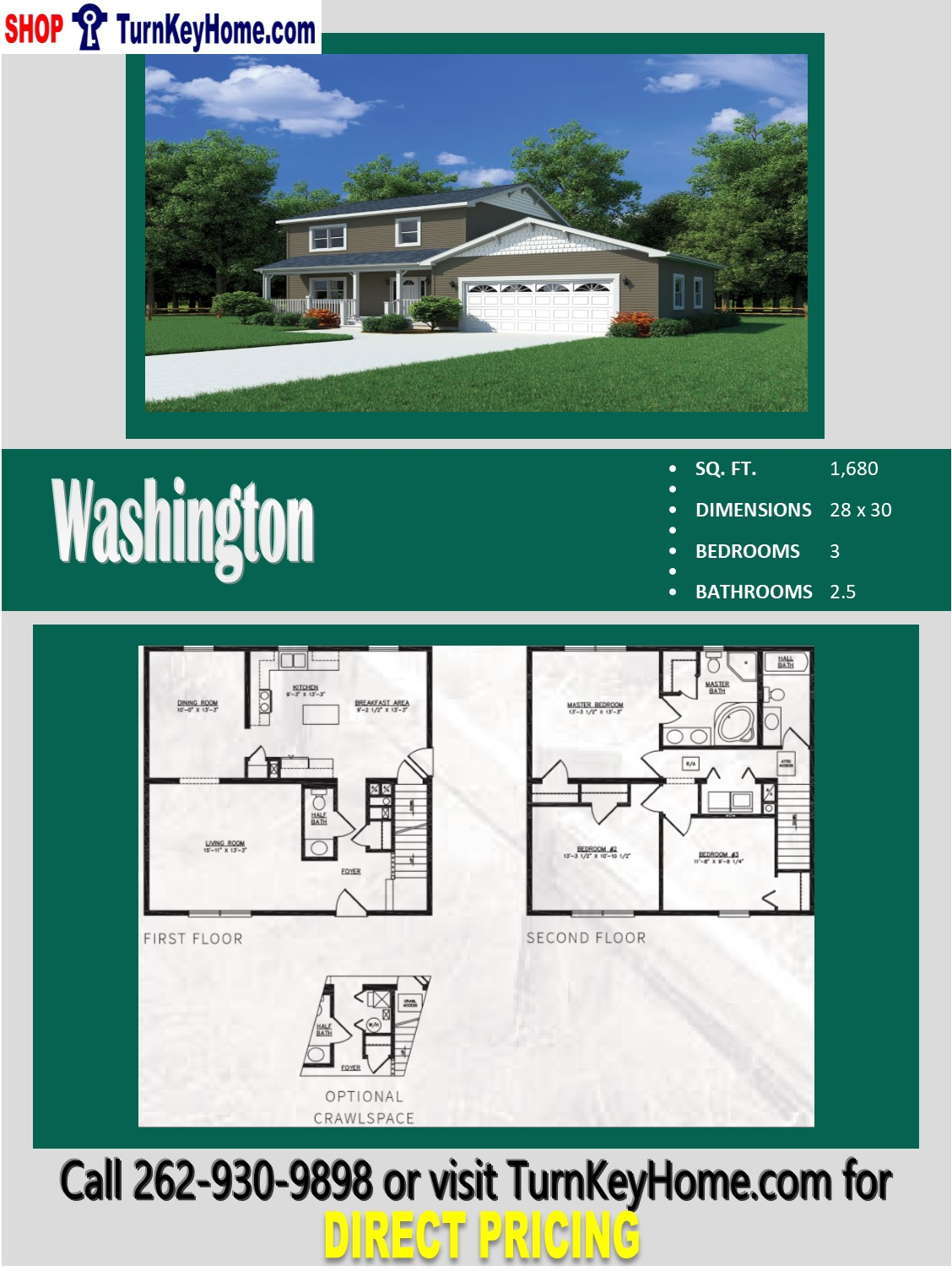 flooring for a small bathroom washington two story home 3 bed 2 5 bath plan 1680 sf 23184